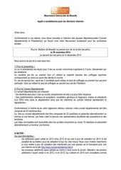 Fichier PDF appel candidatures modem2014