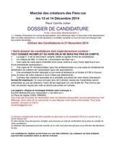 dossier candidature marche e fe es rue 13 14 dec 2014