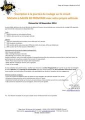 inscription dimanche 16 novembre 2014 michelin