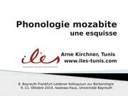 kirchner phonologie mozabite esquisse 2014 oct
