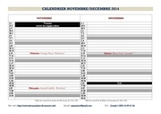 calendrier nov dec 2014