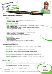 Fichier PDF cv aurelie