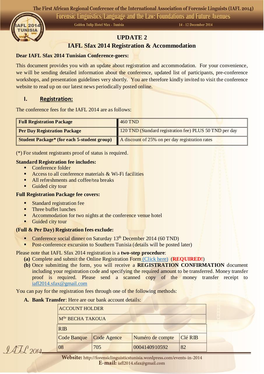 IAFL Sfax 2014 Registration and Accommodation.pdf - page 1/2