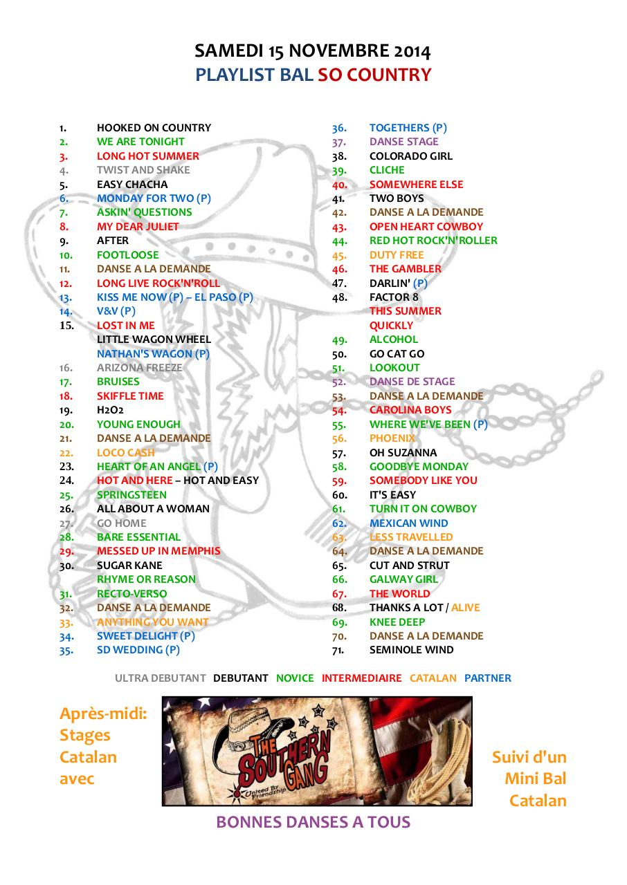 Aperçu du document PLAYLIST SO COUNTRY 15.11.2014 02.pdf - page 1/1