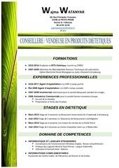 Fichier PDF wajma watanyar cv vendeuse en produits dietetiques
