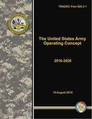 army operating concept aoc 2016