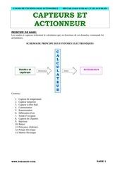 Fichier PDF capteur et actionneur