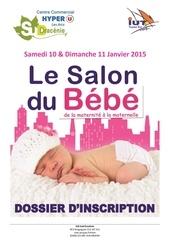 dossier inscription exposants salon du bebe 2015