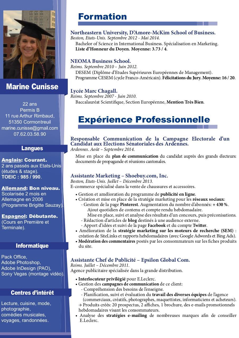 marine cunisse cv  marine cunisse - cv pdf