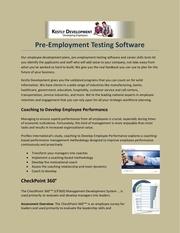 Fichier PDF pre employment testing software