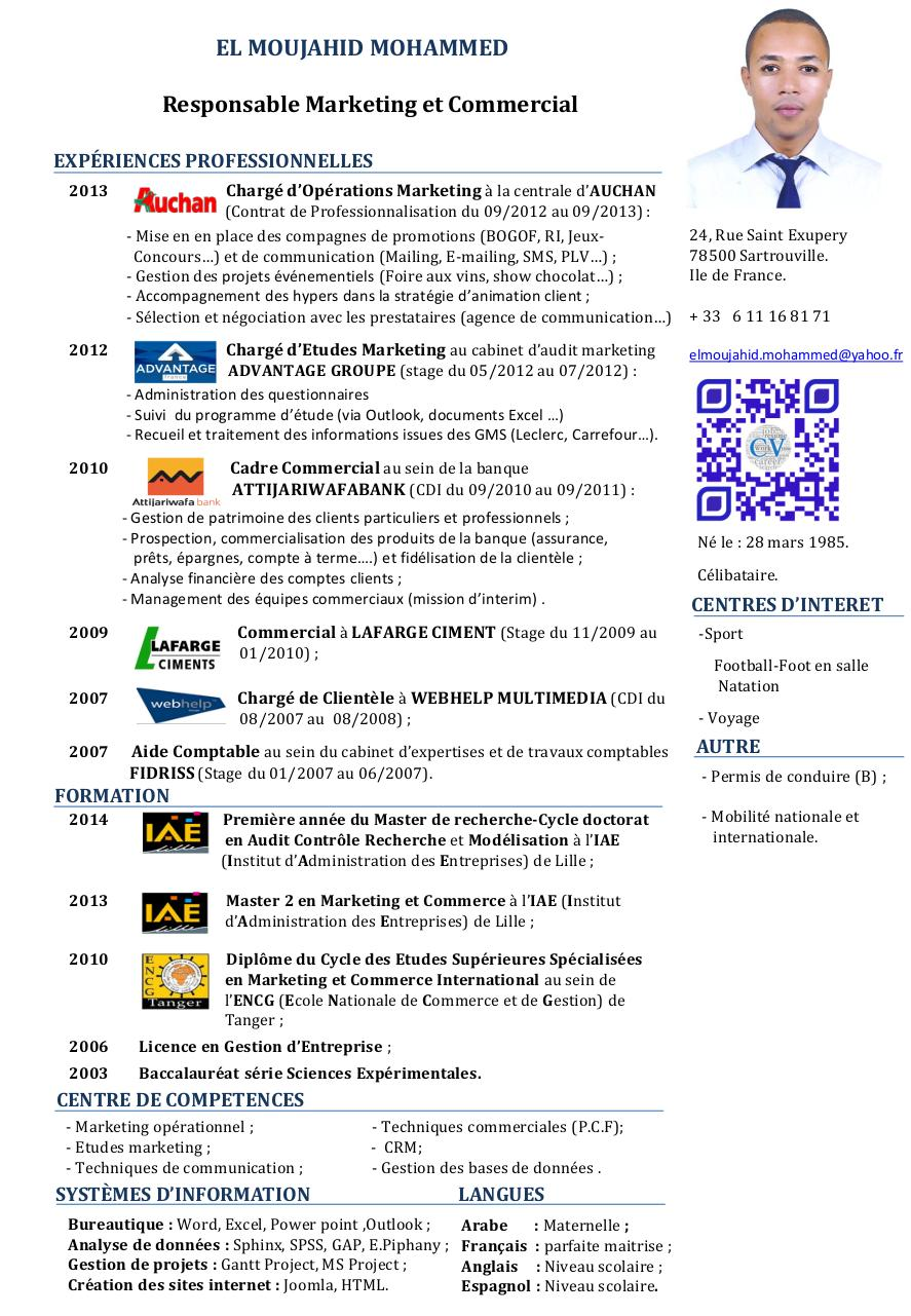 cv master marketing par dell - page 1  1