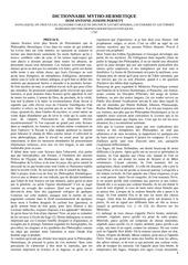 Fichier PDF dom pernety dictionnaire mytho hermetique 1787
