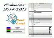 calendrier 2014 2015 zone nord ouest ok