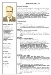 cv baccari english1