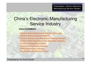 china s electronic manufacturing service industry