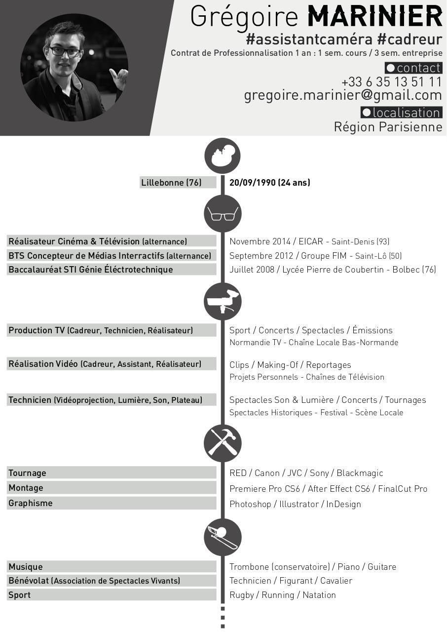 cv n u0026b test - gr u00e9goire marinier - cv pdf