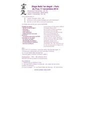stage reiki 1er degre novmbre 2014