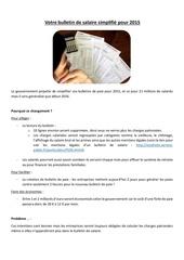 la simplification de vos bulletins de paie en 2015