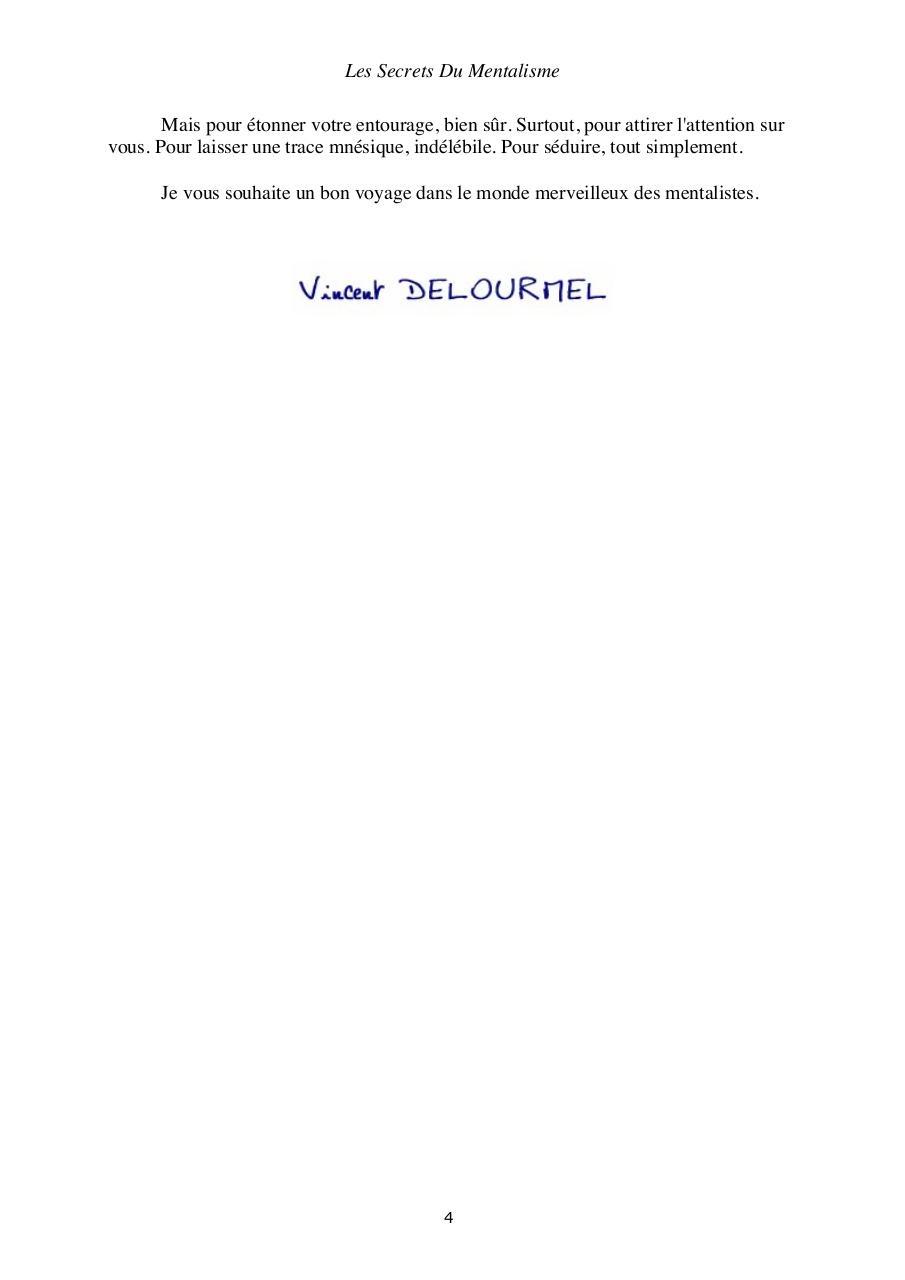 les secrets du mentalisme pdf