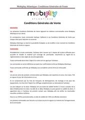mobiplay conditions generales de vente 1er octobre 2014