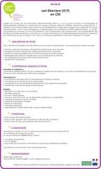 offre emploi directeur vav88