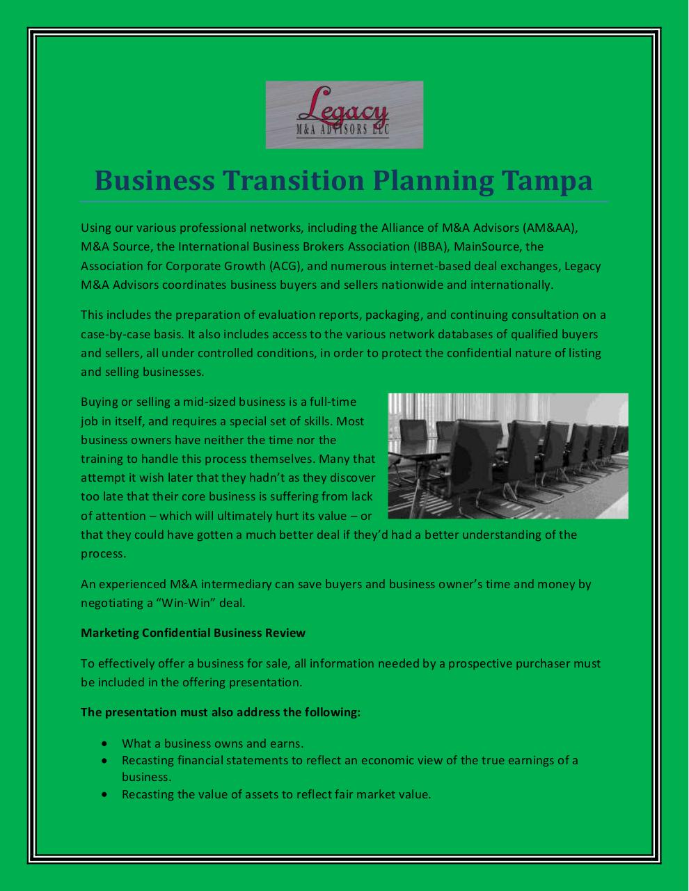 Tampa Business Planning Lawyers providing general counsel services
