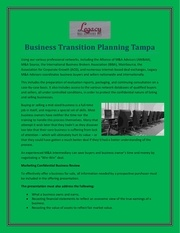 business transition planning tampa