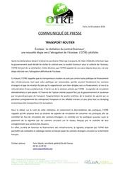 cp ecotaxe otre satisfaite de la resiliation contrat ecomouv