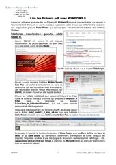 lire les fichiers pdf avec windows 8