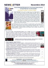 newsletter cargo bleu novembre 2014