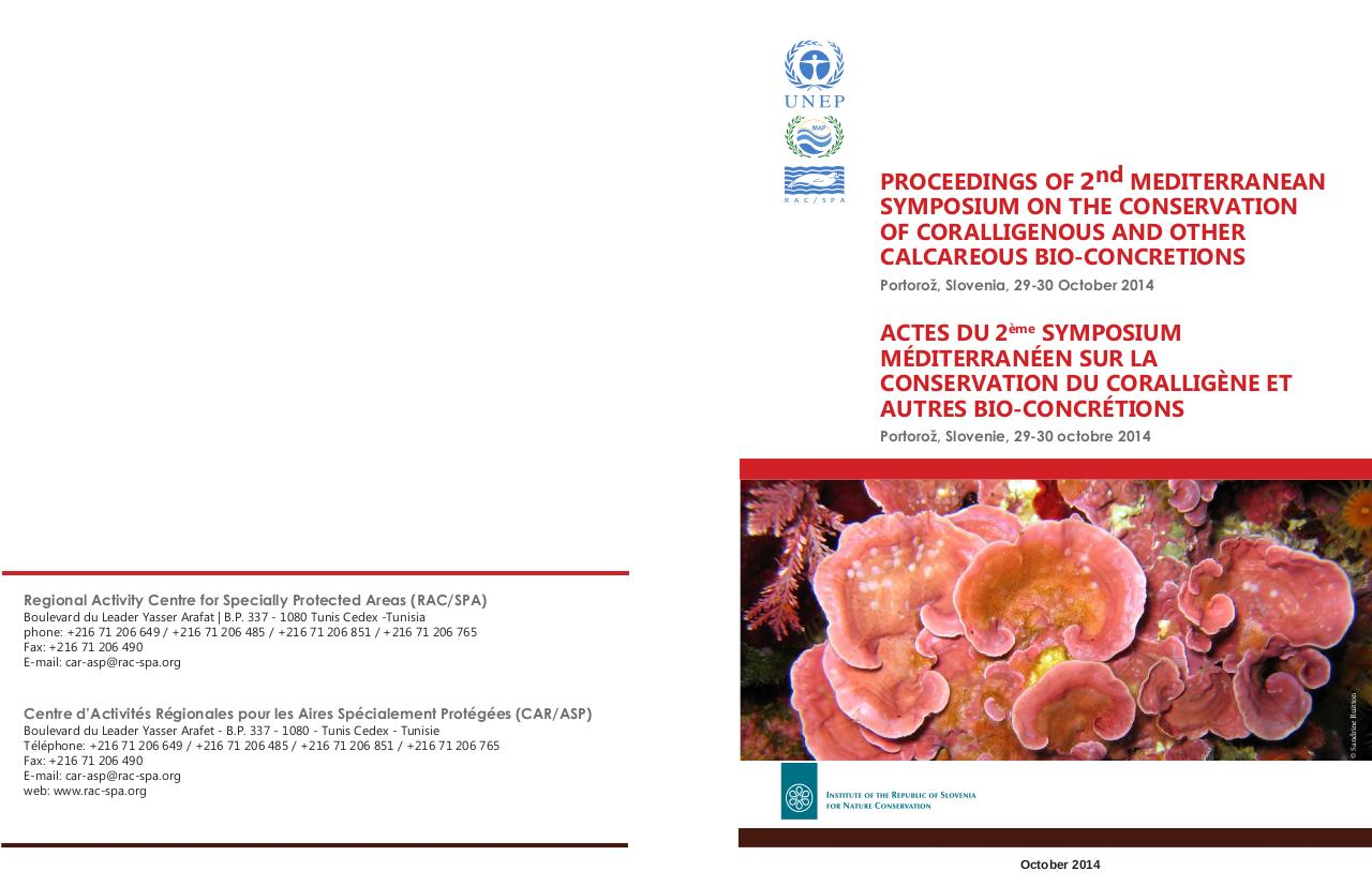 Proceedings 2nd MSC&CBC - Coralligenous.pdf - page 1/261