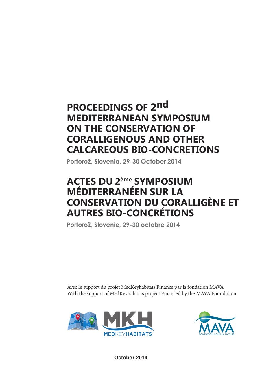 Proceedings 2nd MSC&CBC - Coralligenous.pdf - page 2/261