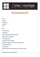 questionnaire auto