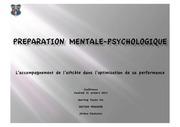 conference preparation mentale