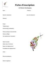 fiche d inscription questionnaire d entree pdf