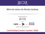 odoxa pour itele cqfd et le parisien aujourdhui en france bilan du retour de nicolas sarkozy