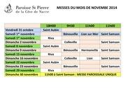 2014 11 01 tableau messes du mois de novembe 2014
