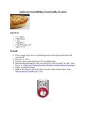Fichier PDF apple cake recipe