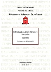 introduction a la litterature francaise