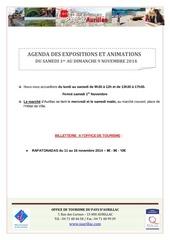 agenda du samedi 1er au dimanche 9 novembre 201
