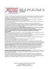 communique ffmgp 01 11 2014