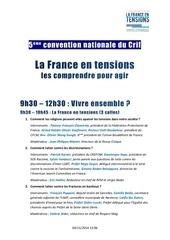 programme convention crif 2014