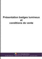 badges lumineux