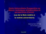 carte universitaire prospective au maroc samir lmimouni