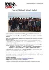 communique bilan ttiki beach 2014 1