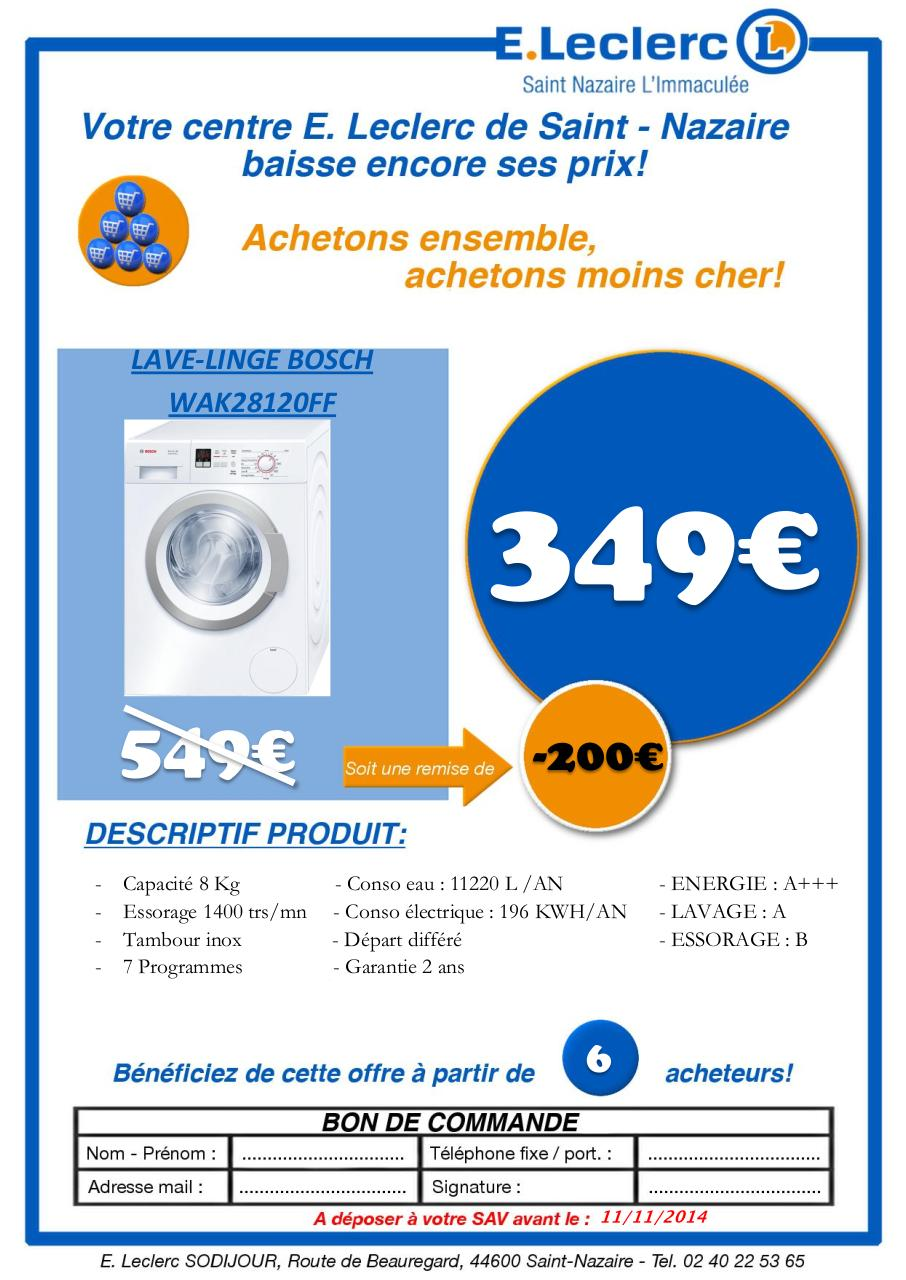 Eleclerc Achats Groupés Ll Bosch Par Stagiaire Fichier Pdf