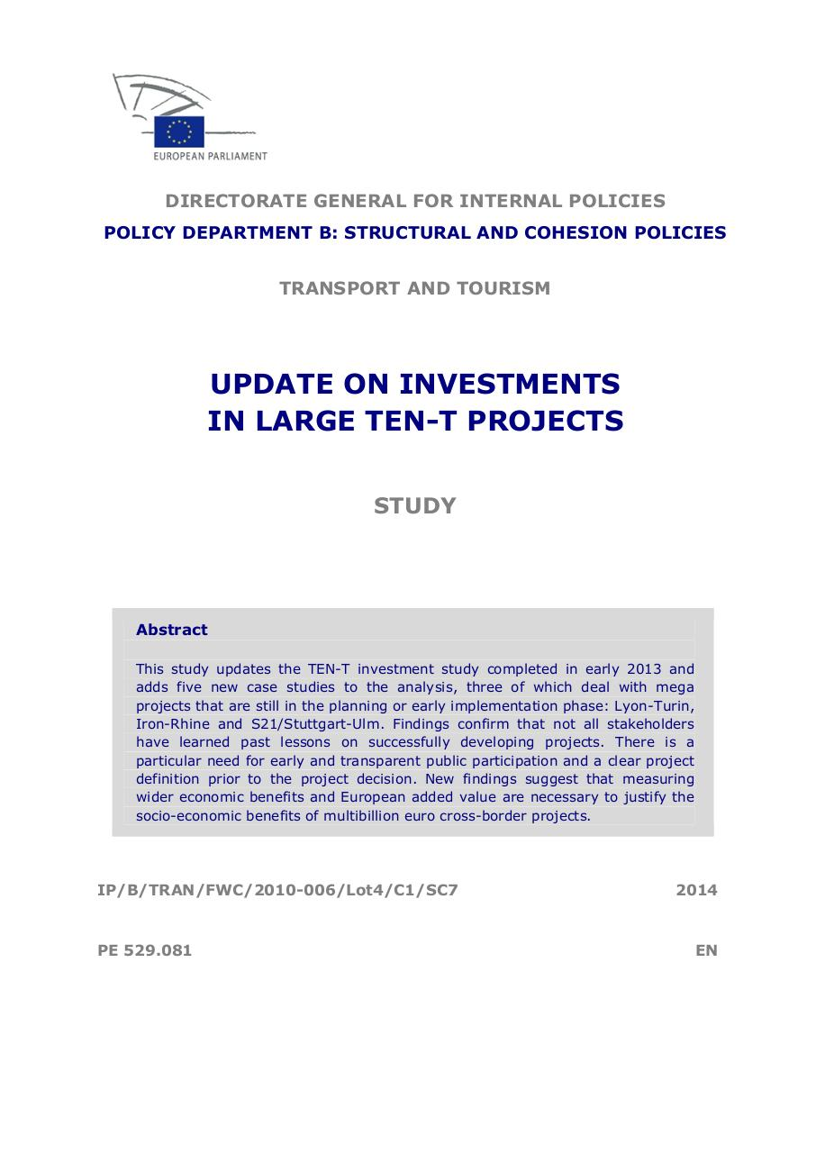 investments in  TEN-T projects.pdf - page 3/93