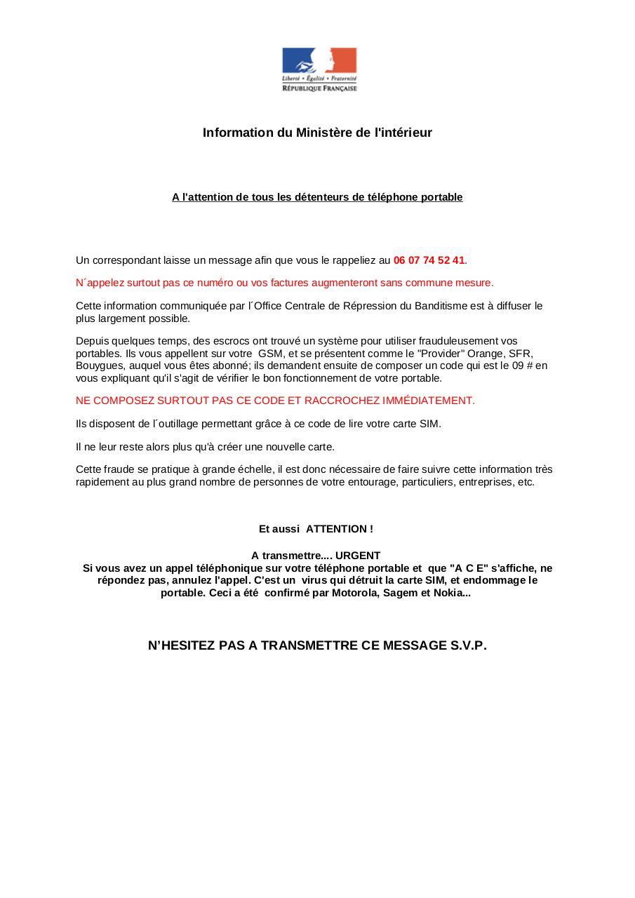 information du minist 232 re de l int 233 rieur par delmont