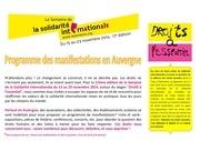 programme semaine de la solidarite internationale