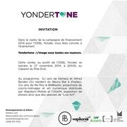 Fichier PDF invitation yondertone